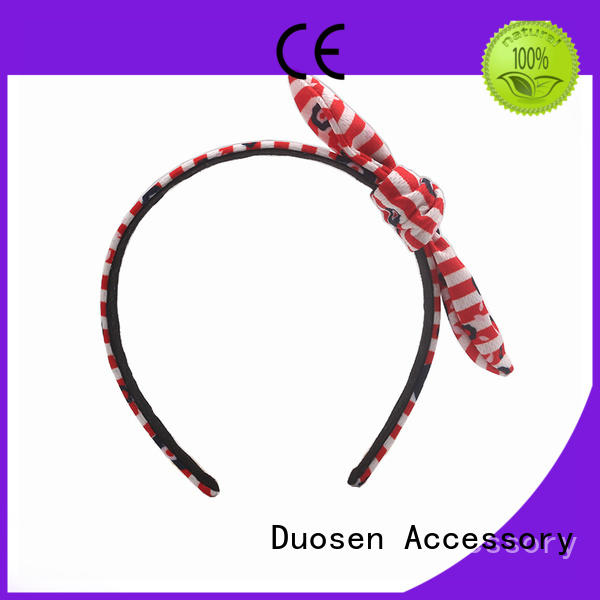 Duosen Accessory eco-friendly cheap fabric headbands customized for sports