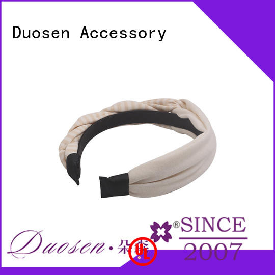 Duosen Accessory ODM fabric alice band series for daily Life