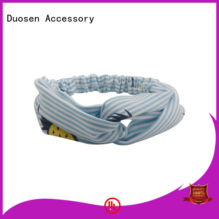 Duosen Accessory red organic fabric bow headband factory for dancer