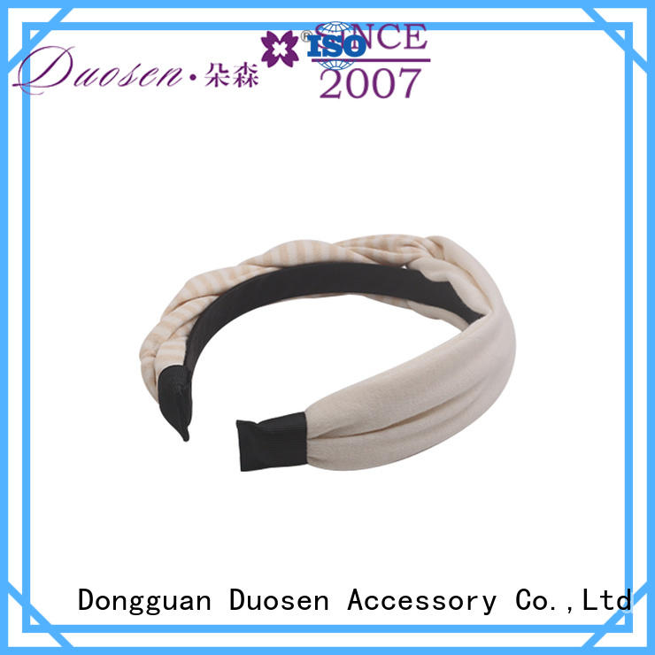 Duosen Accessory Wholesale organic fabric bow headband for business for daily Life