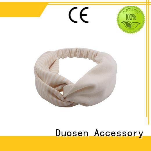 Duosen Accessory flamingo organic fabric headband customized for running