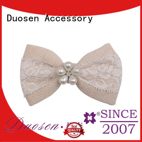 Duosen Accessory durable hair bow clip cross for daily life