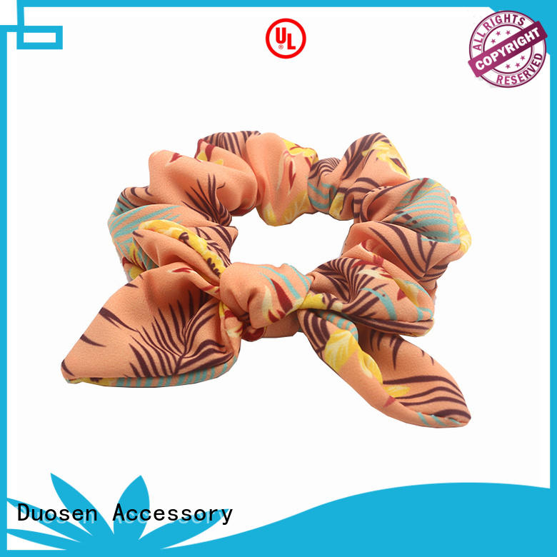 Duosen Accessory eco fabric scrunchies company for girls