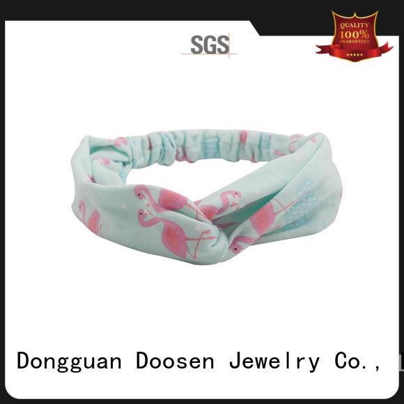 cross knots organic fabric headband Duosen Accessory Brand