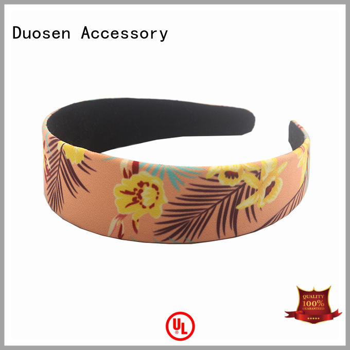 Wholesale fabric bow headband ecofriendly manufacturers for sports