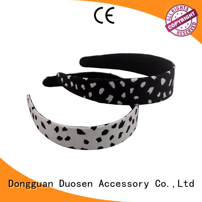 Duosen Accessory Custom organic fabric headband company for sports