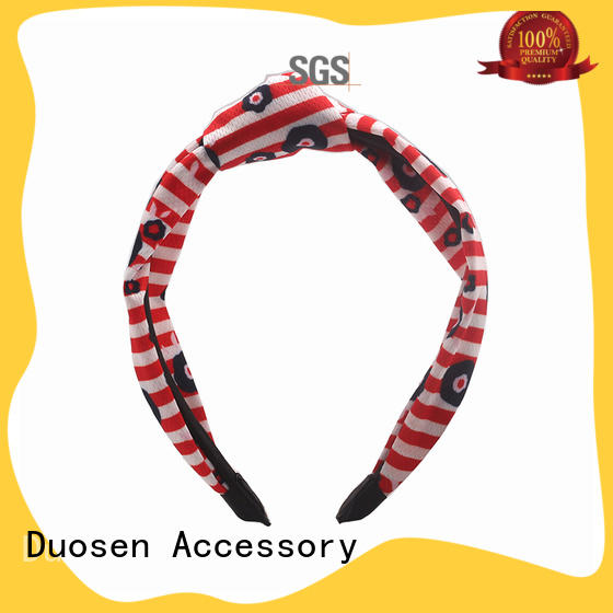 Duosen Accessory charming fabric bow headband with regular use for sports