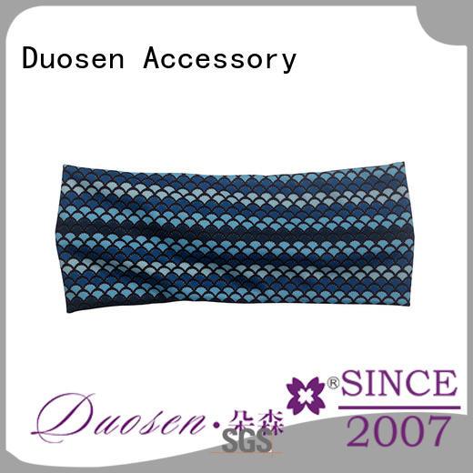 Duosen Accessory elegant organic fabric headband supplier for sports