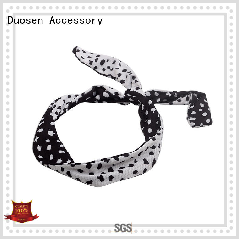 Duosen Accessory band cotton turban headband wholesale for daily Life