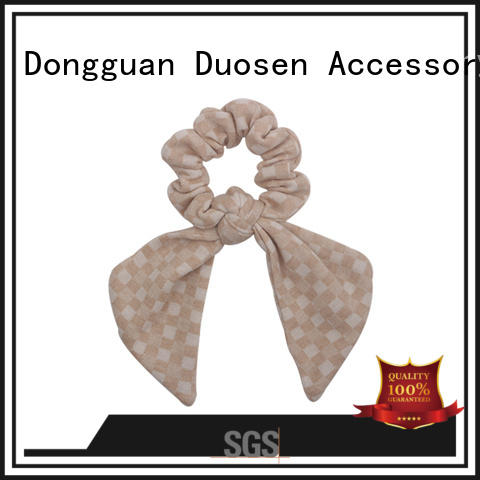 Duosen Accessory popular scrunchie hair ties Supply for women