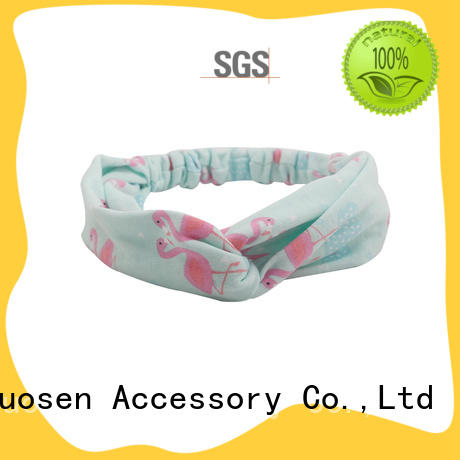 Duosen Accessory band fabric bow headband manufacturer for prom