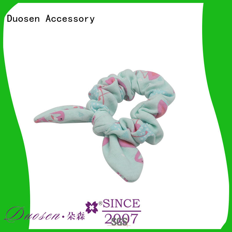 Duosen Accessory durable fabric hair tie fabric for daily life