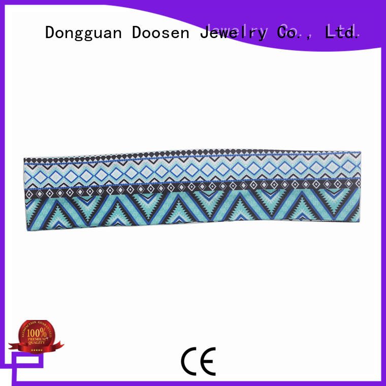 Hot knotted organic material cross headband recycled Duosen Accessory Brand