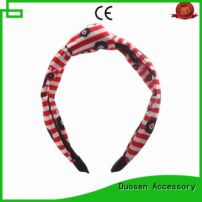 Duosen Accessory High-quality recycled fabric hairband Suppliers for sports