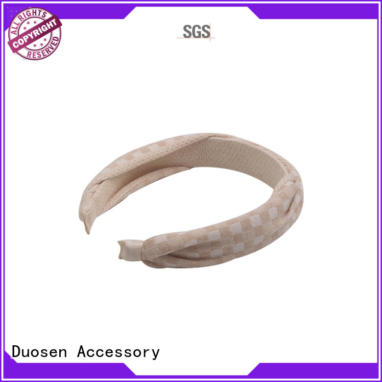 Duosen Accessory Top cloth hairband for business for daily Life