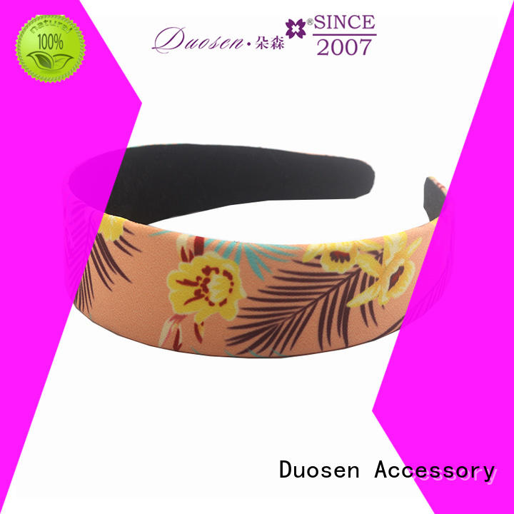 Duosen Accessory selling twisted fabric headband manufacturer for party