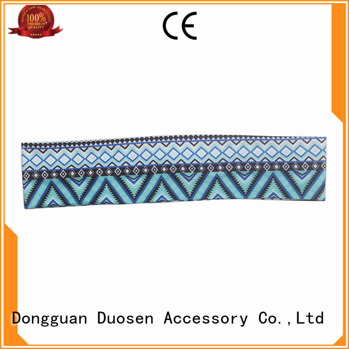 Duosen Accessory OEM cloth hairband supplier for sports