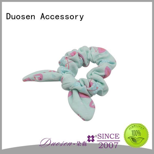 Top scrunchie hair ties ecofriendly Supply for girls