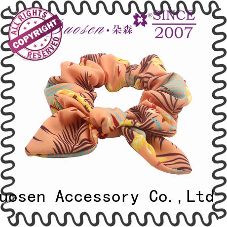 Duosen Accessory woman fabric scrunchies for business for girls