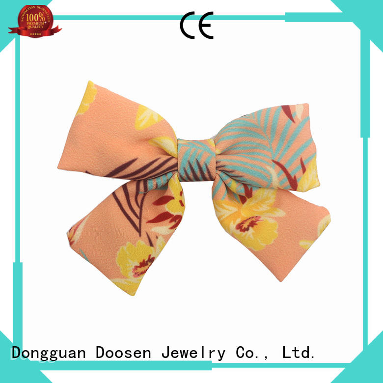 Custom lace fabric bow hair clip friendly Duosen Accessory