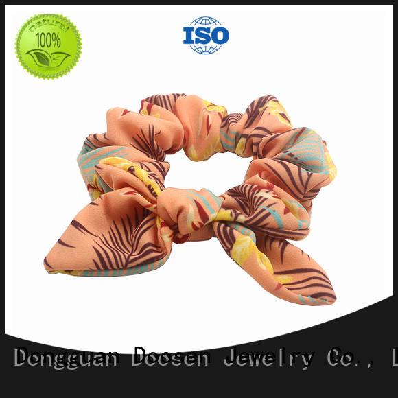 organic eco hair Duosen Accessory Brand organic material hair scrunchy manufacture