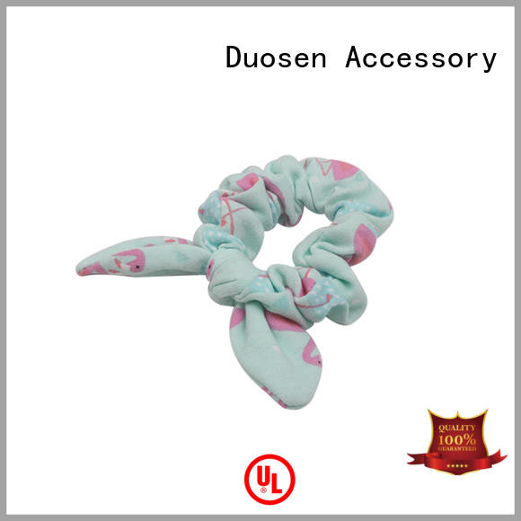 Duosen Accessory Custom fabric scrunchies Supply for daily life