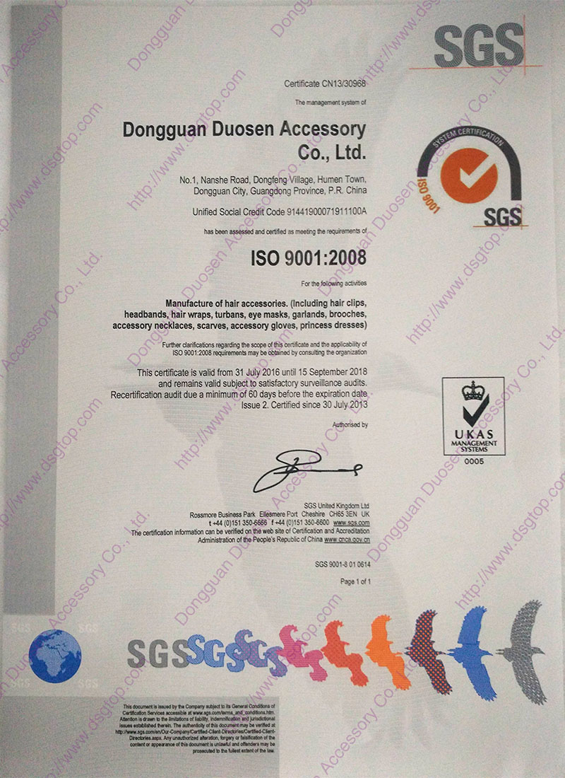 Duosen Accessory convinent fabric hair bands manufacturer for dancer-8