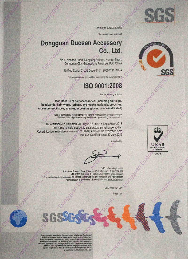 Duosen Accessory print cloth hairband factory for sports