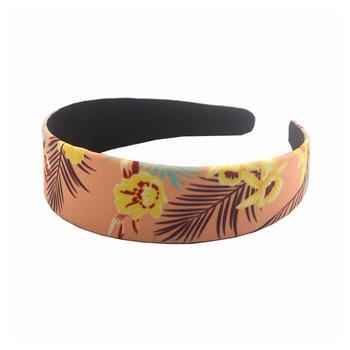 Environmentally friendly organic  fabric flamingo pattern elastic hair band