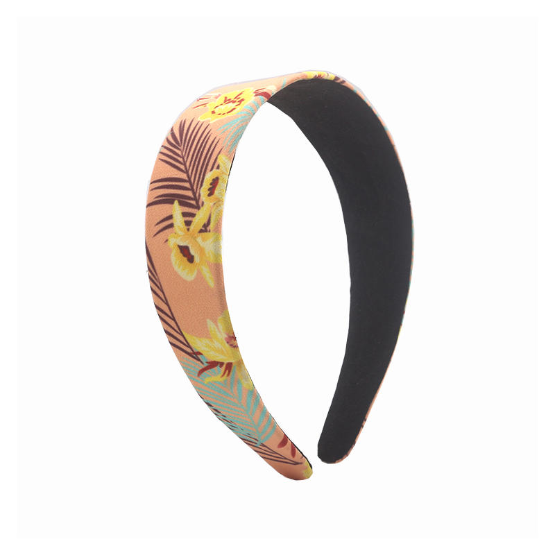 Environmentally friendly organic  fabric flamingo pattern elastic hair band