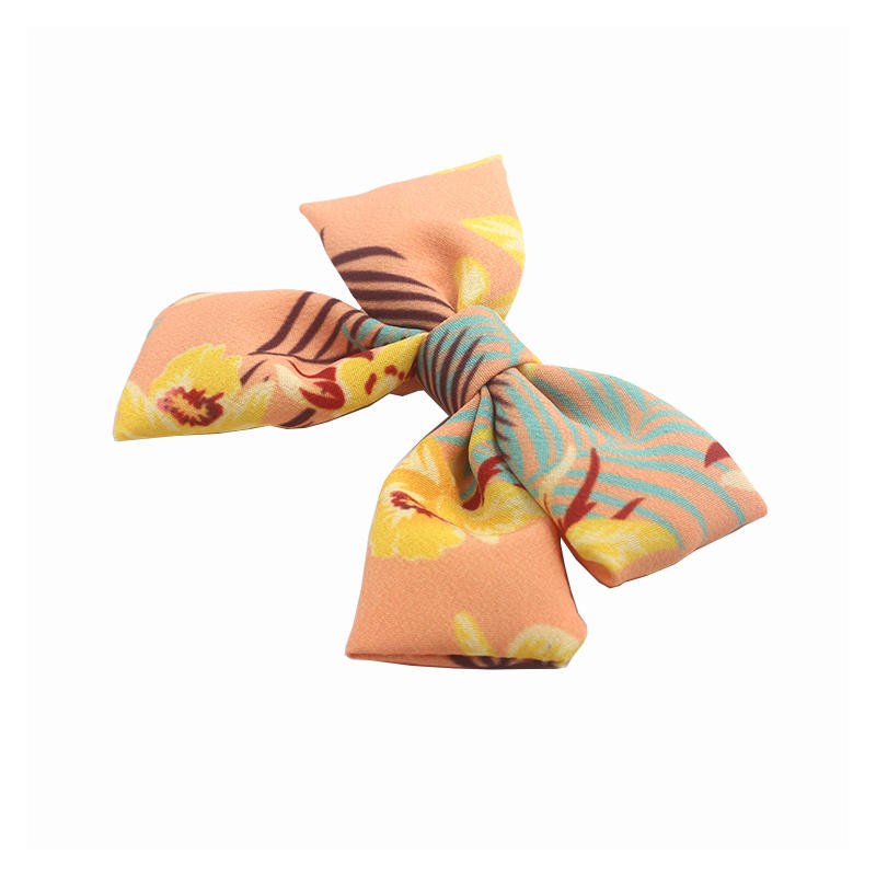 Eco-friendly recycled fabric bright color fancy style  hair clips bow hair accessories