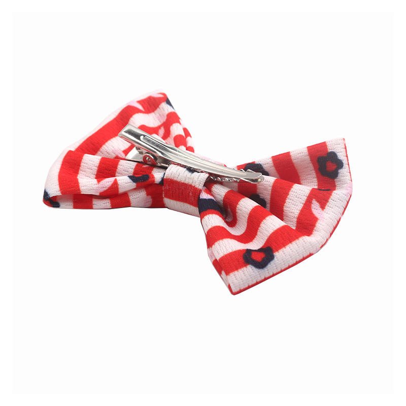 Eco-friendly recycled fabric bright color fancy style  hair clips bow  for girls