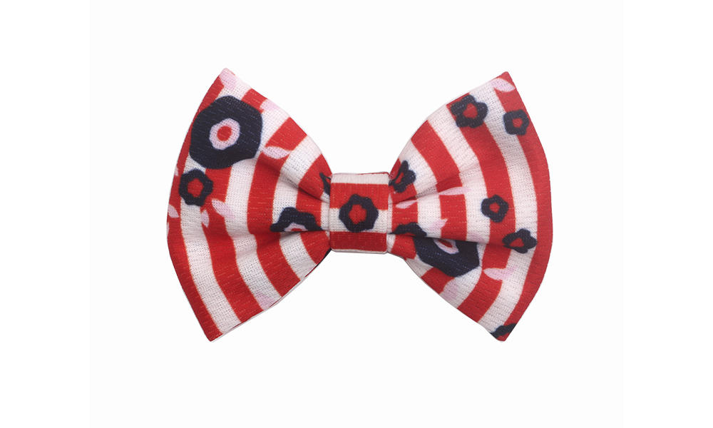 New fabric hair bow pattern bright company for party-1