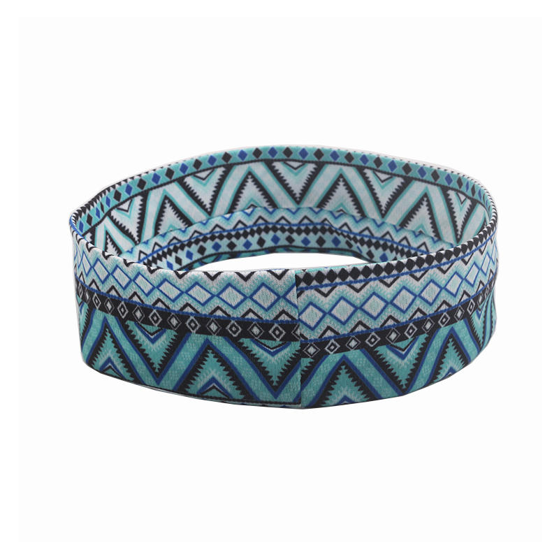 Eco-friendly recycled fabric bright color headband Hawaii geometric pattern  hair accessories