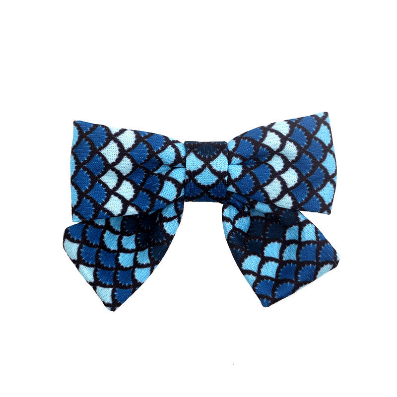 Eco-friendly recycled fabric bright color cross headband Hawaii geometric pattern soft hair clips
