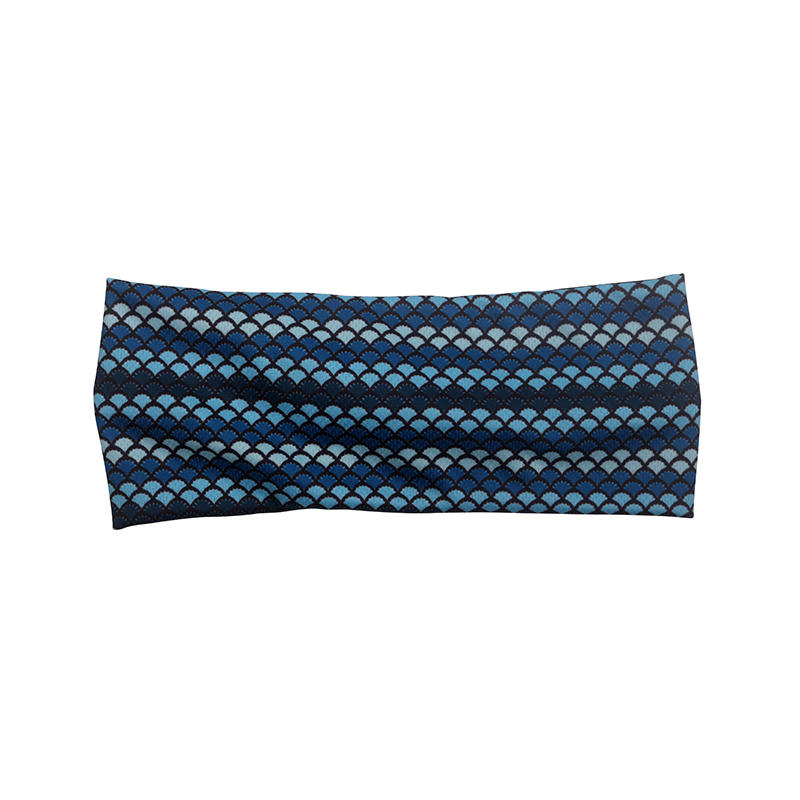 Eco-friendly recycled fabric bright color cross headband Hawaii geometric pattern  soft hair accessories