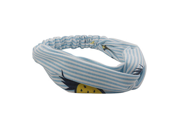 organic material cross headband fresh striped Duosen Accessory Brand