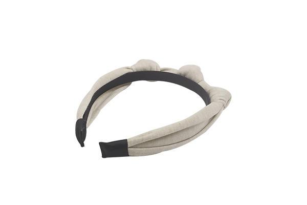 Duosen Accessory stripe organic fabric hairband Supply for daily Life-3