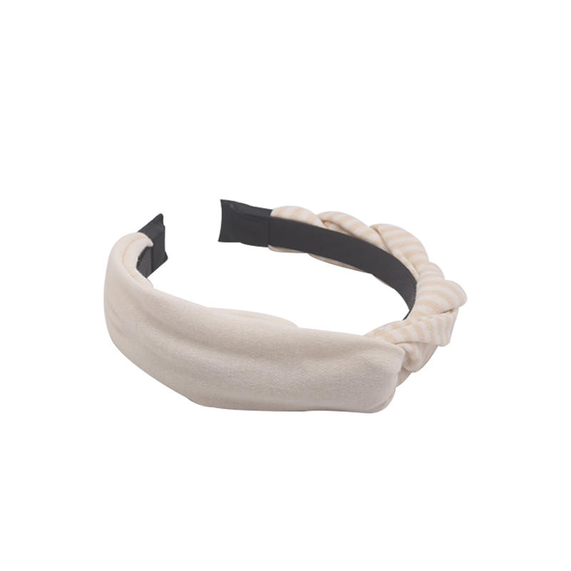 Eco- friendly organic fabric headband with two different sides