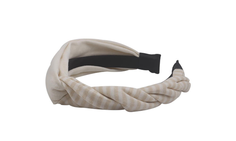Custom wire fabric headband striped company for sports