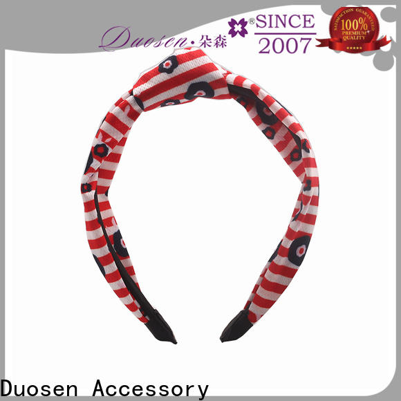 Duosen Accessory wave organic fabric hairband factory for party