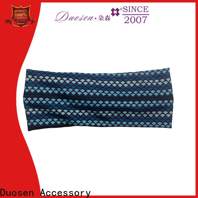 Duosen Accessory elastic cloth headbands factory for running