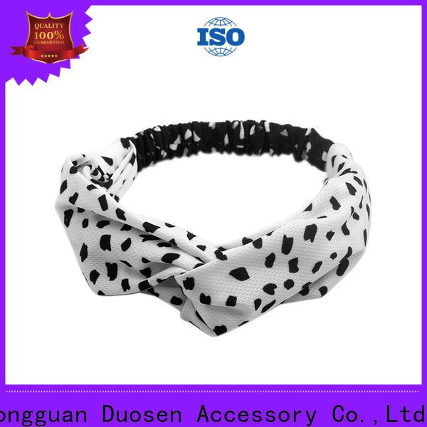 Custom cotton turban headband bow company for running