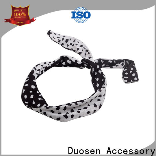 Duosen Accessory geometric twisted fabric headband manufacturers for daily Life
