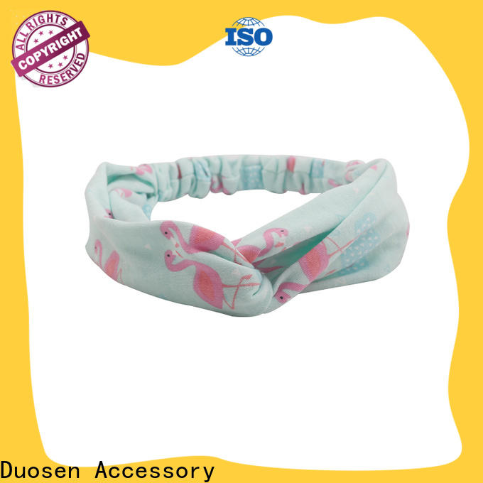 Duosen Accessory New recycled fabric hairband company for sports