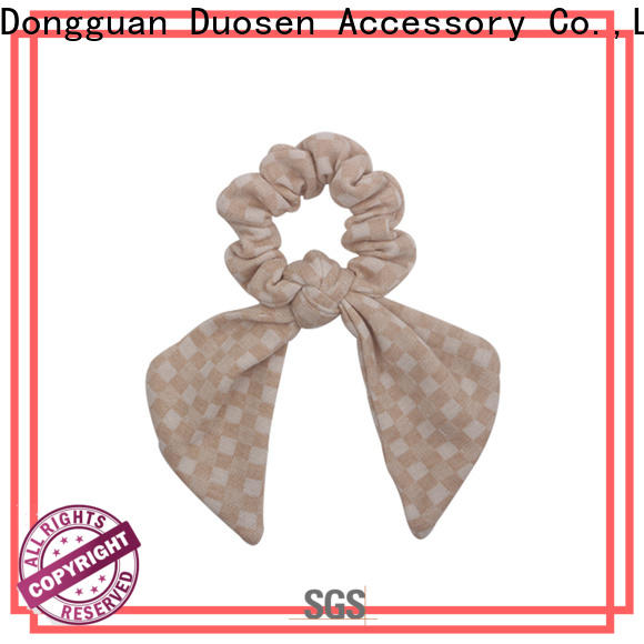 Duosen Accessory color fabric hair tie Suppliers for daily life