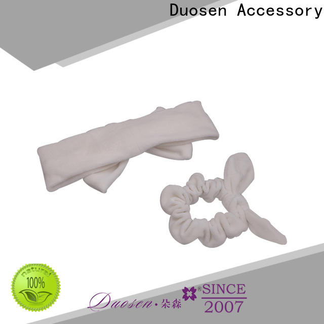 Duosen Accessory New organic fabric bow headband manufacturers for sports