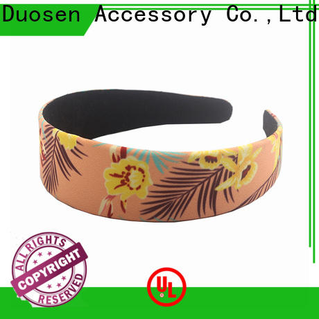 Duosen Accessory High-quality twisted fabric headband company for dancer