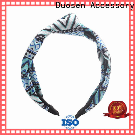 Duosen Accessory flower fabric alice band for business for dancer