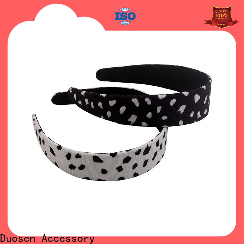 Custom fabric hair bands elastic Suppliers for sports